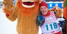 Special Olympics GaPa 2013 - Skilanglauf - Maskottchen Dentolus und Sandra Schneider