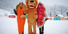 Special Olympics GaPa 2013 - Skilanglauf - Maskottchen Dentolus und seine Fruchtchen