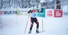 Special Olympics GaPa 2013 - Skilanglauf - 153 Florian Winkler auf der 7,5km Strecke