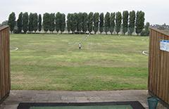 Das Grün des Golf Sport Verein Düsseldorf wartet auf die Golfathleten.