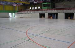 In der Sporthalle der Dieter-Forte-Gesamtschule finden die Badmintonwettbewerbe statt.