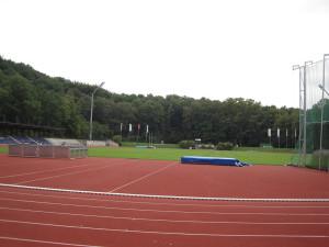 Im Rather Waldstadion werden die Leichtathletik-Wettbewerbe ausgetragen