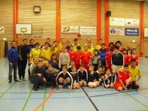 Die Fußball-Mannschaft der Helen-Keller-Schule aus Ratingen bereitet sich auf die Special Olympics Düsseldorf 2014 vor (Foto: Helen-Keller-Schule)