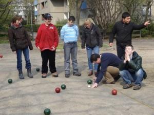 Das Boccia-Team der HKS übt für die Wettbewerbe bei den Special Olympics Düsseldorf 2014 (Foto:HKS)